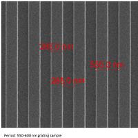 硅,周期550-600nm,线宽158-330nm,最大高度100-350nm