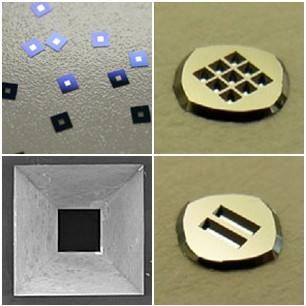 X-ray应用氮化硅窗口,外框5*5mm,窗口1.5*1.5mm,膜厚50-500nm ,Norcada
